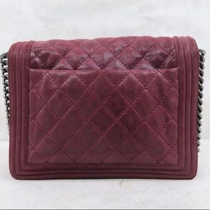 CHANEL Bags - Chanel large Boy brick red leather shoulder bag